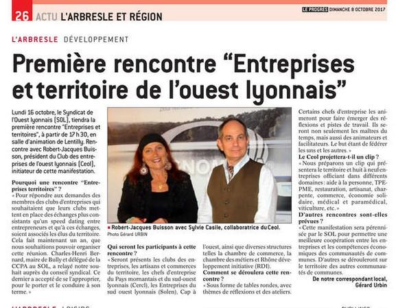 Vidéo sur la 1ère Rencontre Entreprises et Territoire de l'Ouest Lyonnais 2017