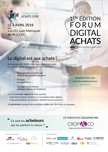 Affiche 1er Forum Digital Achats
